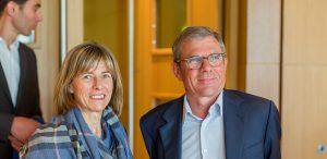 Bretagne Atlantique Ambition - Christine Robin (Arkéa Banque EI) et Didier Ferré (fondateur BAA et PDG groupe Ferré Hôtels)