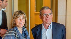 Christine Robin (Arkéa Banque E&I) et Didier Ferré (fondateur BAA et PDG groupe Ferré hôtels mécénat)