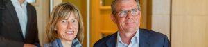Bretagne Atlantique Ambition - Christine Robin (Arkéa Banque EI) et Didier Ferré (fondateur BAA et PDG groupe Ferré Hôtels) (article)